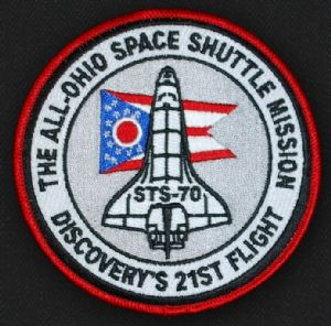 All-Ohio Space Shuttle Mission Patch - Astronaut Don Thomas Collection